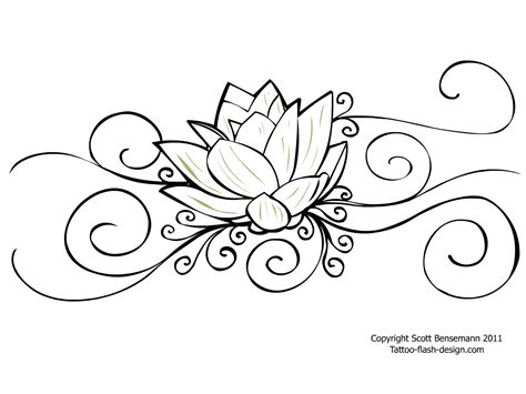 flower tattoo outline designs awesome outline flower design