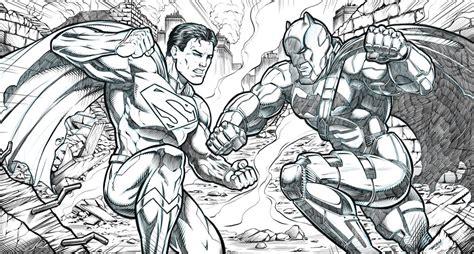 coloring page batman vs superman batman v superman coloring book batman vs superman dawn