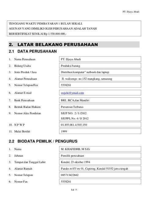 proposal rencana membuka usaha proposal rencana bisnis pt