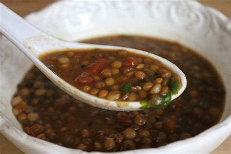 spicy ginger and french lentil soup recipe dishmaps