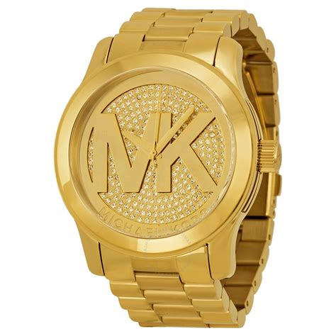 M Hael Kors New York Gold michael kors runway gold pave gold tone