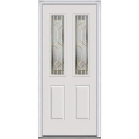 Decorative Replacement Glass For Front Door by Milliken Millwork 30 In X 80 In Majestic Elegance