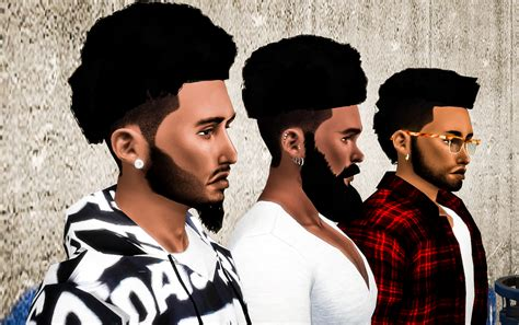 sims 4 cc black hairstyles my sims 4 blog ts3 nappy fros hair conversions for males