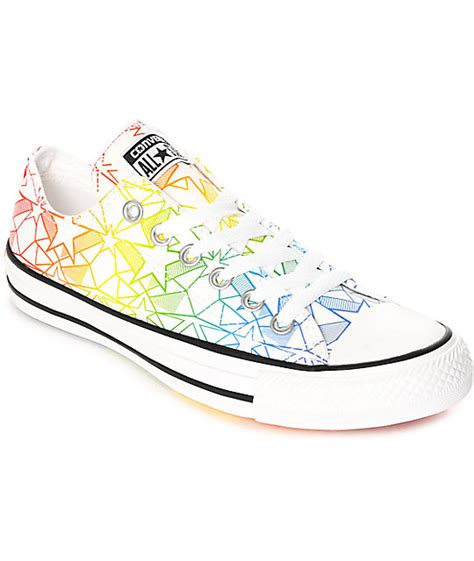 multi colored converse converse ctas ox pride pack white multi colored shoes