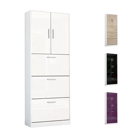 white high gloss shoe storage shoe storage rack cabinet organizer rista in white high