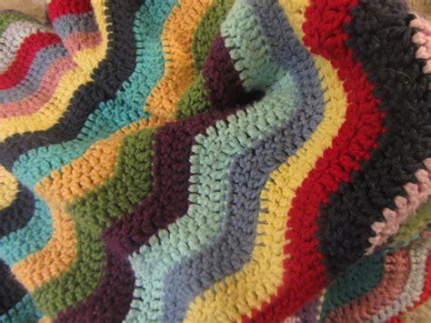 coton colors ta collected yarns crochet ripple blanket ta da