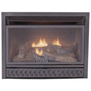 lowes gas fireplace inserts shop procom 28 75 in w 26 000 btu black vent free dual