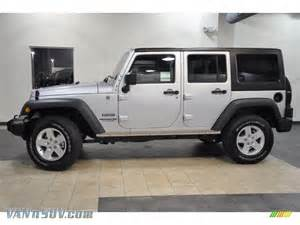 Jeep Silver 2011 Jeep Wrangler Unlimited Sport 4x4 In Bright Silver