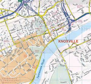 Map Of Knoxville Tennessee by Knoxville City Street Map Bing Images