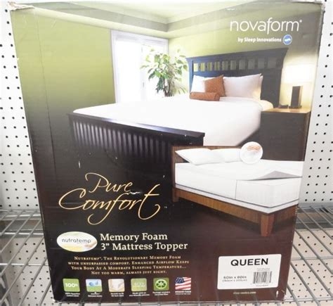 Novaform Mattress Box by New Novaform 3 Quot Memory Foam Mattress Topper 60 Quot X