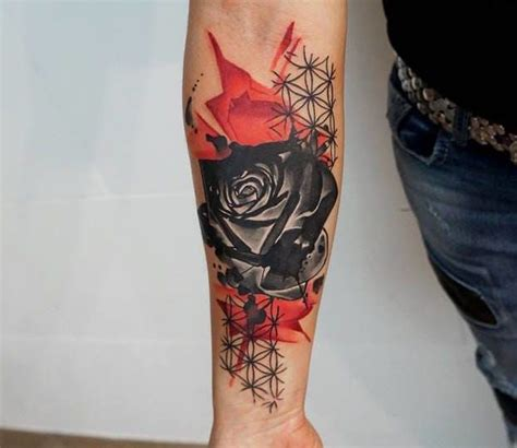 tattoo geometric dragon the 25 best geometric rose tattoo ideas on pinterest