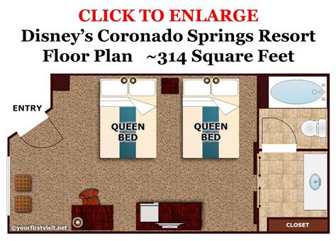 Typical Hotel Room Floor Plan by Photo Tour Of A Standard Room At Disney S Coronado Springs