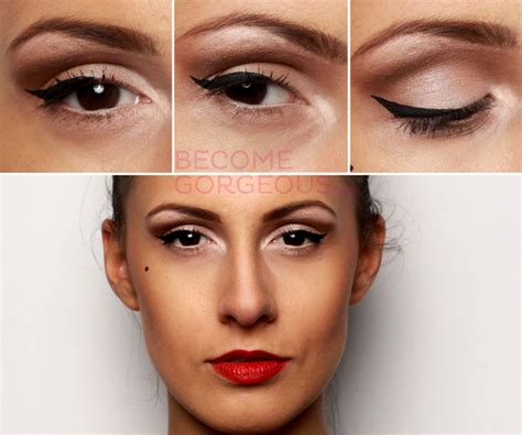 Tutorial Eyeliner Pin Up | becomegorgeous com releases pin up girl makeup video