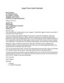 exle legal cover letter letter of recommendation