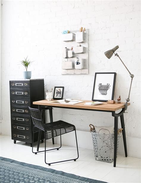roses office furniture and grey vintage industrial furniture