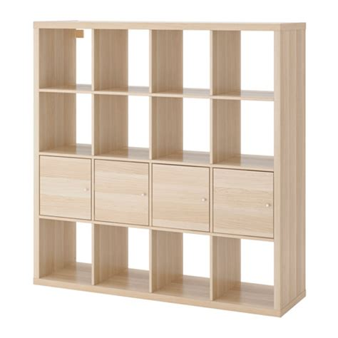 oak shelving units living room kallax shelving unit with 4 inserts white stained oak effect ikea