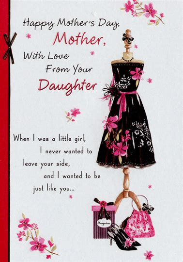 black dress  stand mother mothers day card  designer