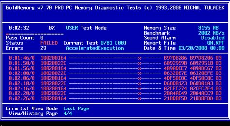 Gold Memory For Your Vista Pc by Goldmemory Memory Testing Diagnostics Software For Pc