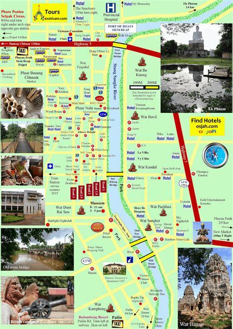 maps  phnom penh  siem reap