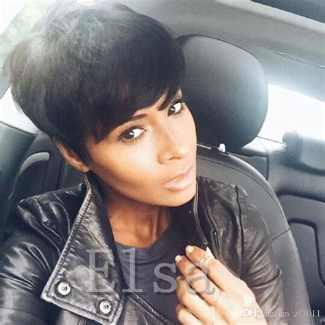 vomor on short hair cost of human hair wigs black purple red ombre short