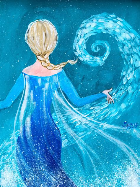 free elsa painting elsa from frozen easy painting tutorial free on