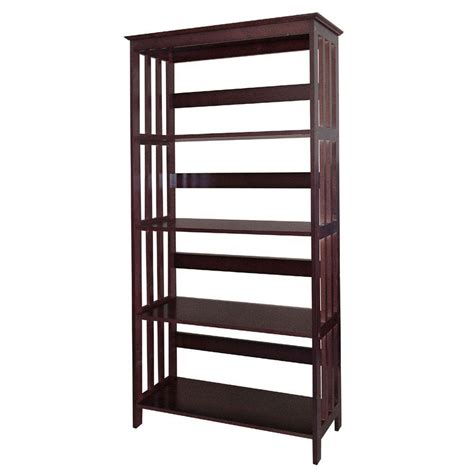 home decorators collection espresso open bookcase r5417 es