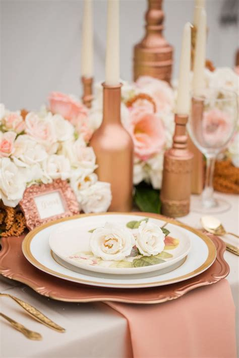 wedding themes with rose gold rose gold wedding ideas 65