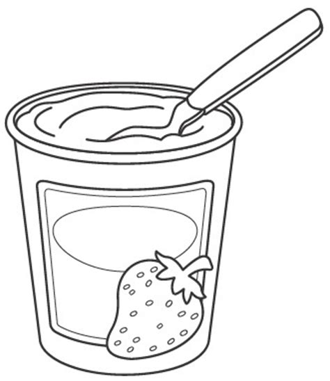 Coloring Page Yogurt yogurt clipart coloring pencil and in color yogurt