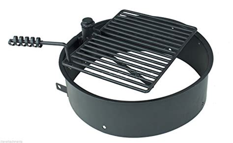 pit ring with grill 32 quot steel ring with cooking grate cfire pit park grill bbq cing new ebay
