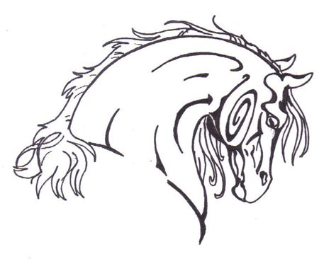 tribal horse head tattoo designs design tribal by chiakka