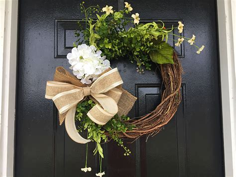 Spring Summer Wreath Spring Decor Summer Door Wreath Front Summer Front Door Decor
