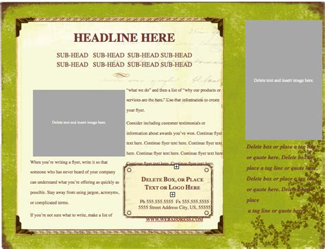 keynote brochure template weathered horizontal flyer template for pages free iwork