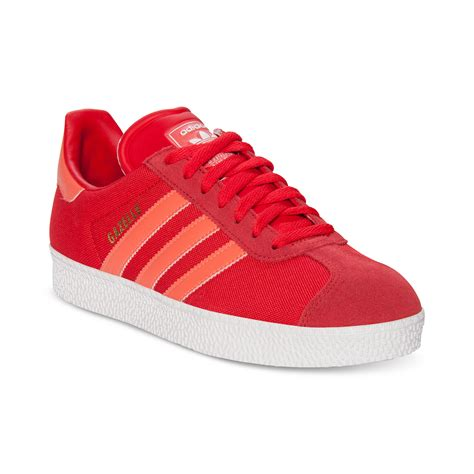 adidas gazelle rst casual shoes in for infrared white lyst