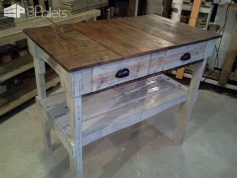pallet kitchen island distressed pallet kitchen island 1001 pallets