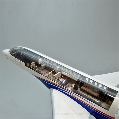 Home Interior Gifts by Dassault Falcon 8x Model With Detailed Interior And Lights