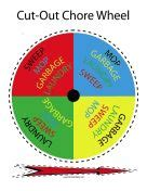 first apartment cleaning free downloadable chore wheel