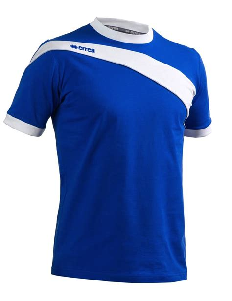 T Shirt White Line Blue errea darwin t shirt blue and white