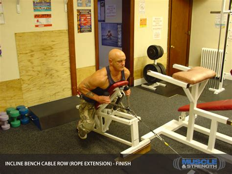 bench and incline same day incline bench cable row rope extension video exercise