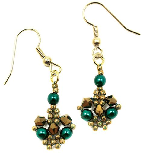 around the beading table betsy s lace earrings