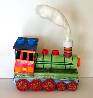 things made out of recycled materials http www thecraftycrow net 2011 06 little train from