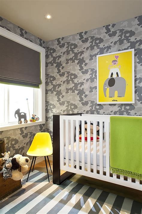 grey wallpaper for nursery hudson baby design nursery of the week cool camo