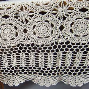 Custom Made Valance Crochet Tablecloth