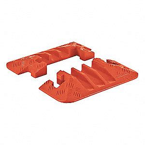 ending 15 orange checkers hinged 3 channel cable protector end cap orange