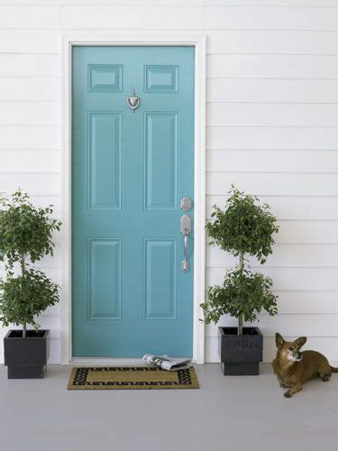 beautiful turquoise front door for the home