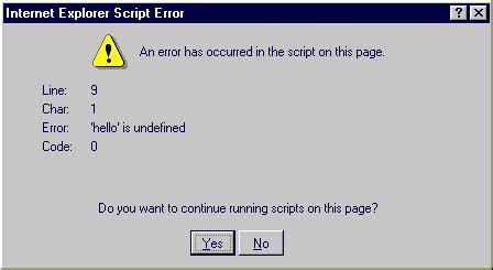 javascript tutorial notes javascript errors understanding and correcting
