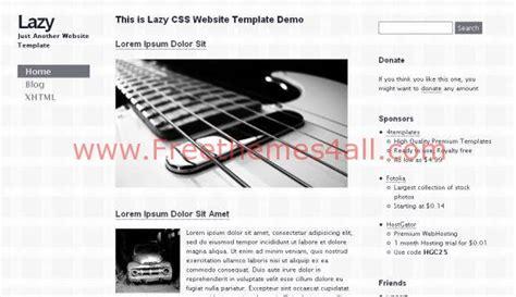 guitar tutorial websites grey music guitar css template download