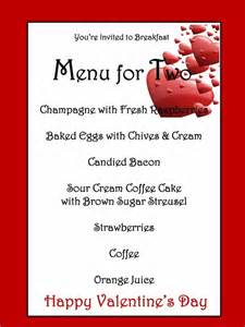 valentines menu template menu template for valentines day eventful