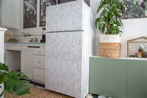 removable wallpaper clean how to cover a refrigerator with removable wallpaper hgtv