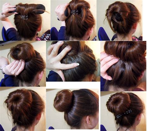hairstyles using a bun donut donut bun with long hair newhairstylesformen2014 com
