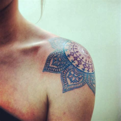 mandala flower tattoo meaning lotus shoulder on mandala